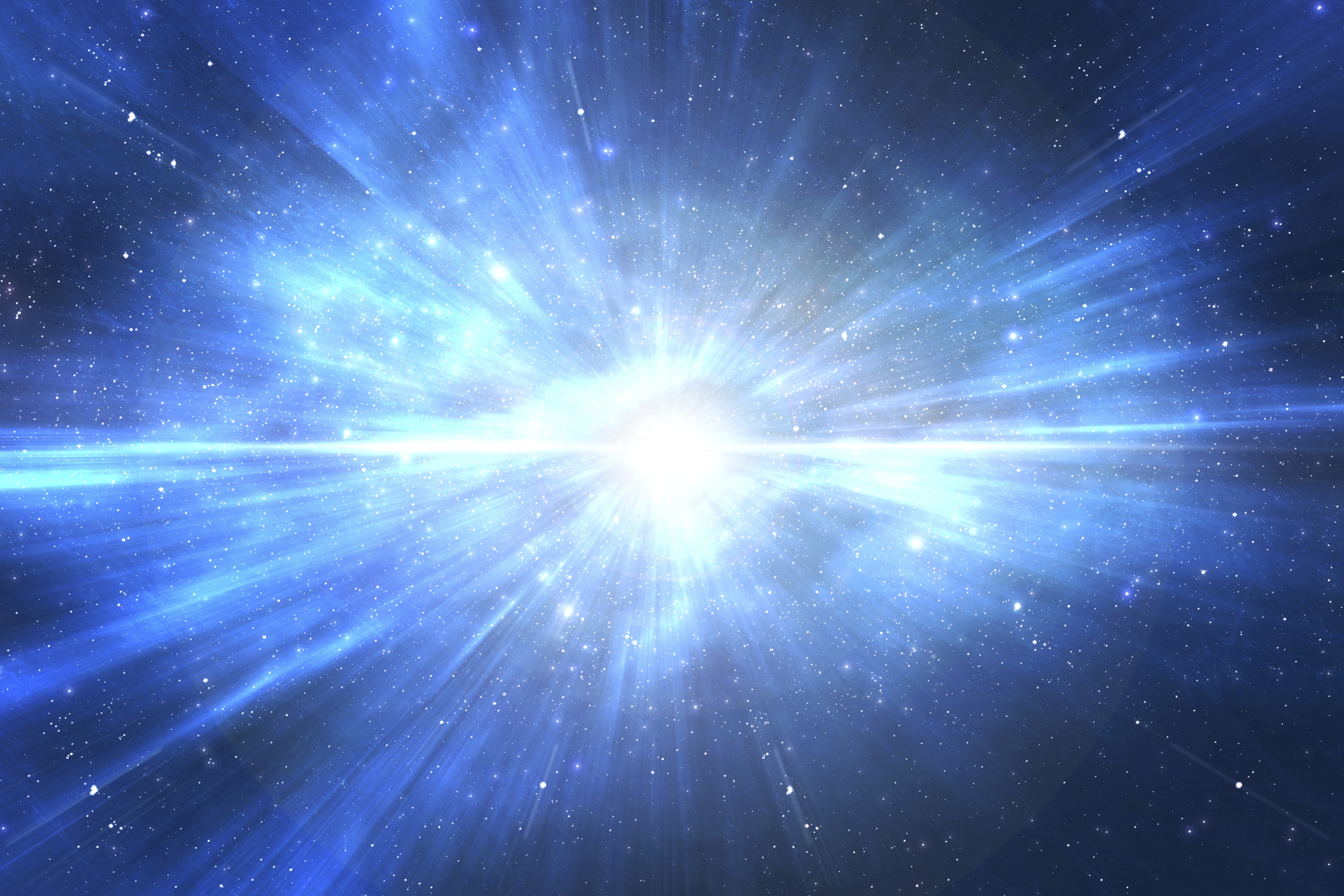 Star explosion in space